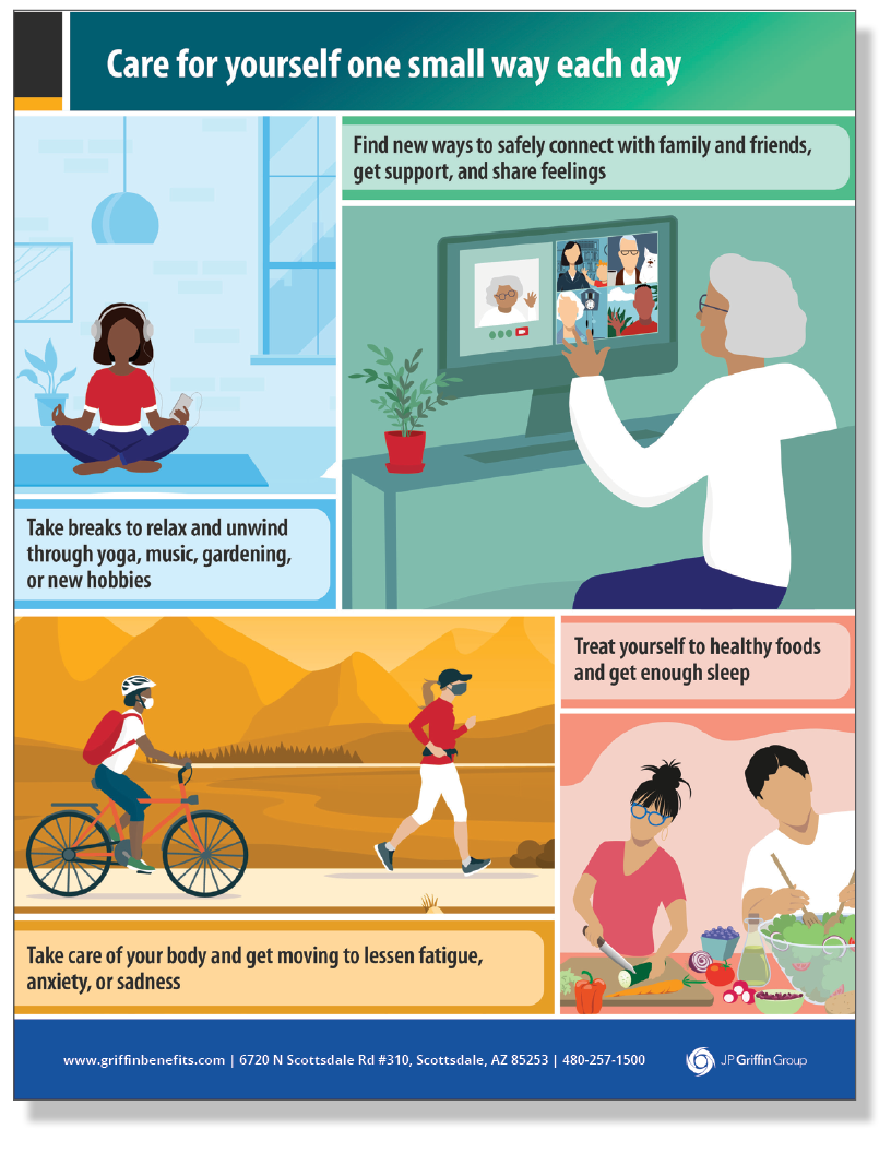 CDC Care for Yourself One Small Way Each Day Poster