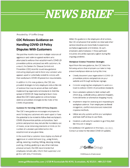 CDC Releases Guidance on Handling COVID-19 Policy Disputes With Customers-1