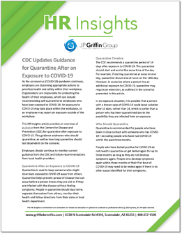 CDC Updates Guidance for Quarantine After An Exposure to COVID-19-1