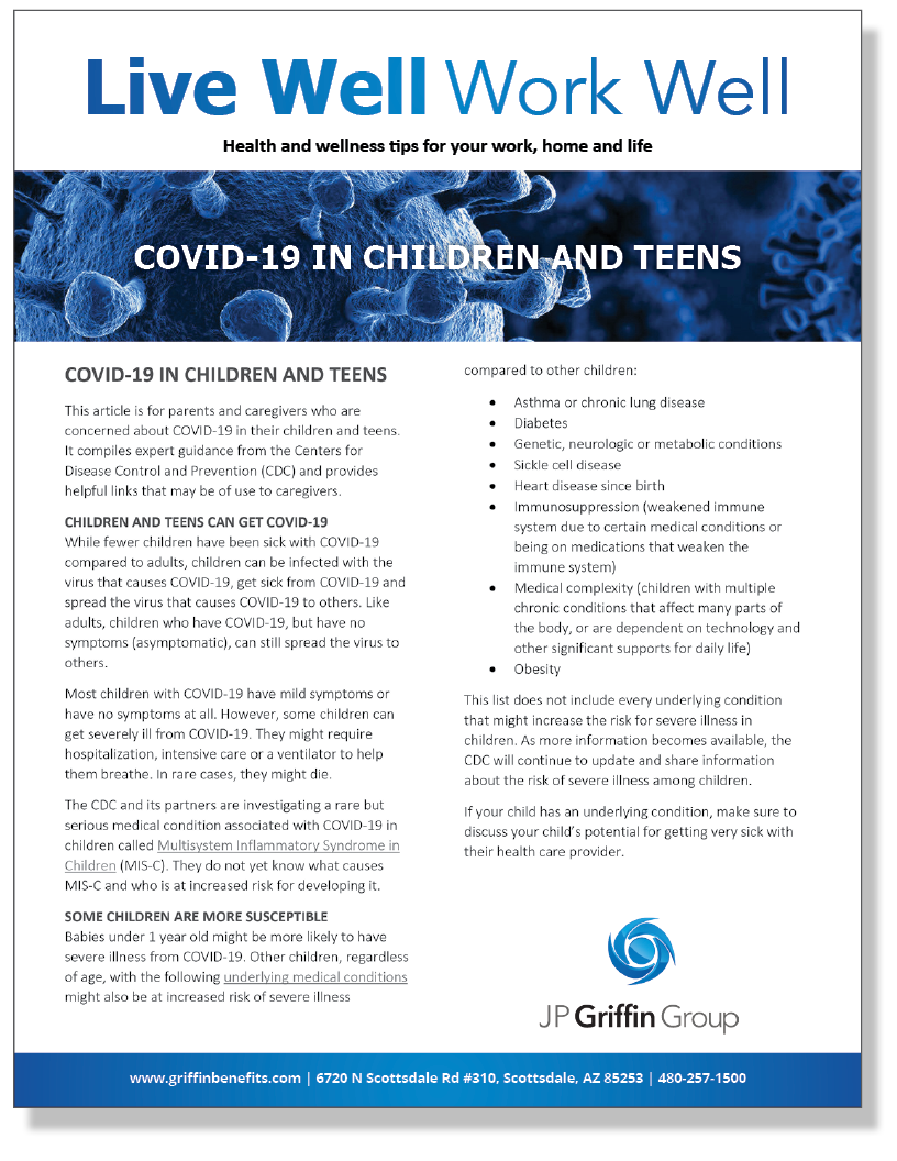 COVID-19 in Children and Teens