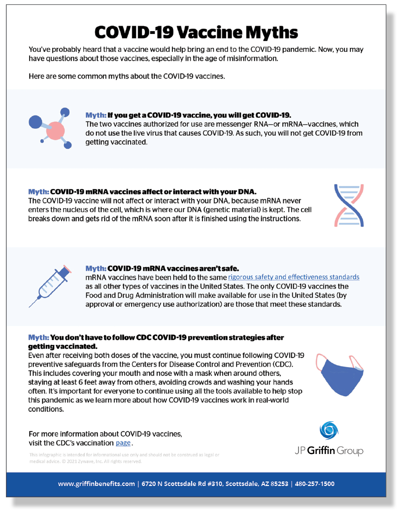 COVID-19 Vaccine Myths - Infographic