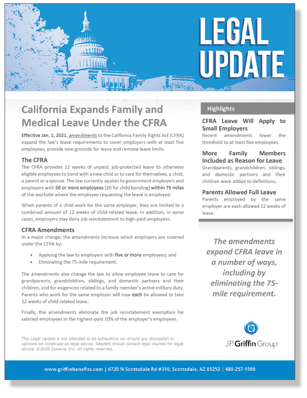 California Expands Family and Medical Leave Under the CFRA_FINAL