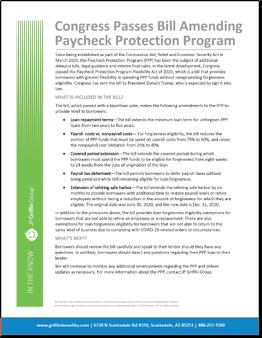 Congress Passes Bill Amending Paycheck Protection Program-1