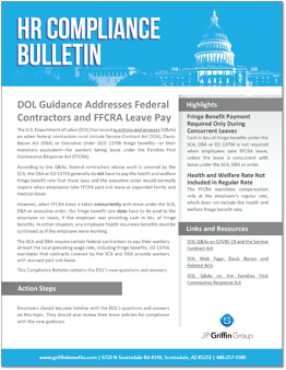 DOL Guidance Addresses Federal Contractors and FFCRA Leave Pay-1