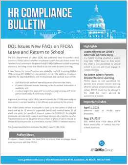DOL Issues FAQs on FFCRA Leave and Return to School-1