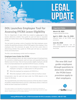 DOL Launches Employee Tool for Assessing FFCRA Leave Eligibility F-1