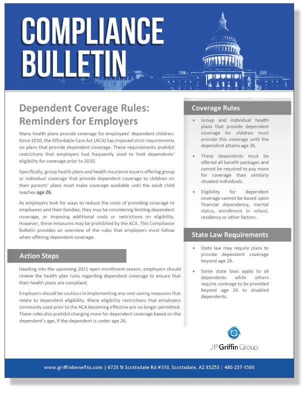 Dependent Coverage Rules - Reminders for Employers_FINAL