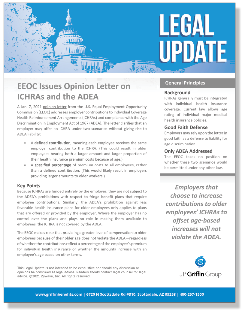 EEOC Issues Opinion Letter on ICHRAs and the ADEA