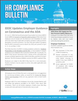 EEOC Updates Employer Guidance on Coronavirus and the ADA-1-1