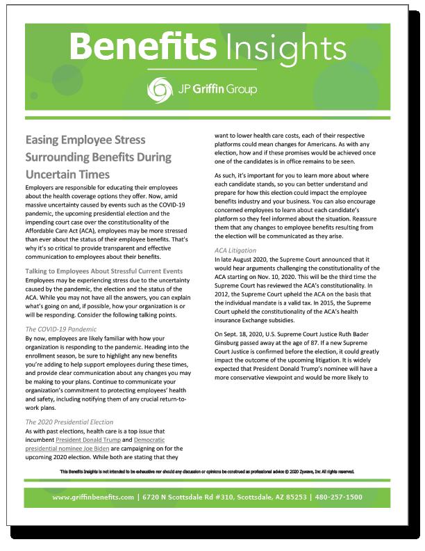 Easing Employee Stress Surrounding Benefits During Uncertain Times_FINAL