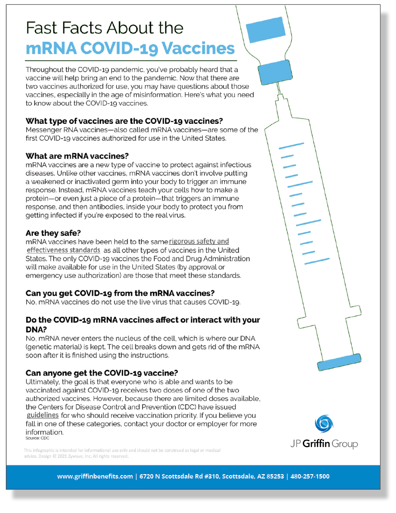 Fast Facts About the COVID-19 mRNA Vaccines - Infographic