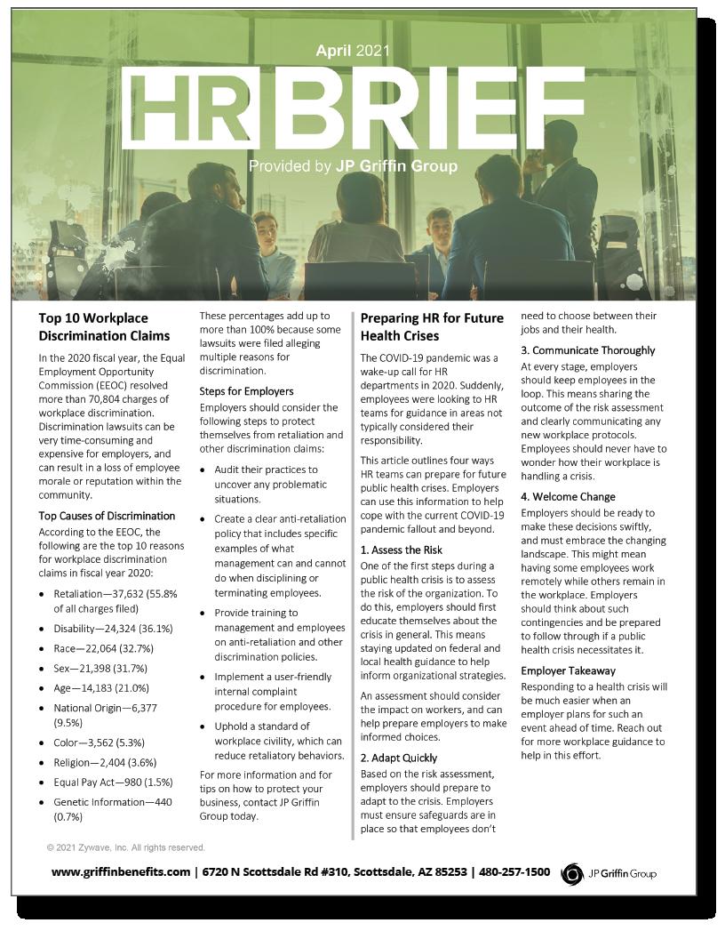 HR Brief Newsletter - April 2021 (Added 3/14)
