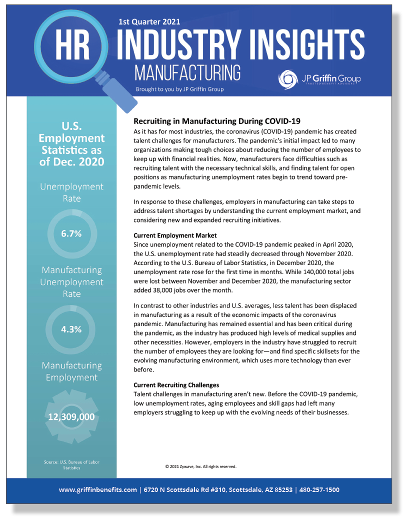 HR Industry Insights Manufacturing Q1 2021