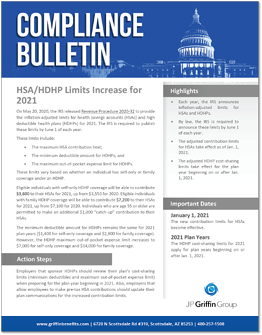 HSA HDHP Limits Increase for 2021-1
