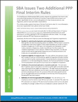 ITK SBA Issues Two Additional Interim Final Rules (1)
