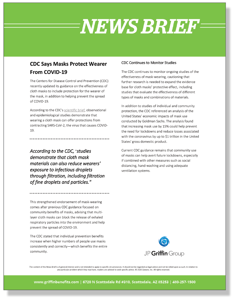 News Brief - CDC Says Masks Protect Wearer From COVID-19_FINAL