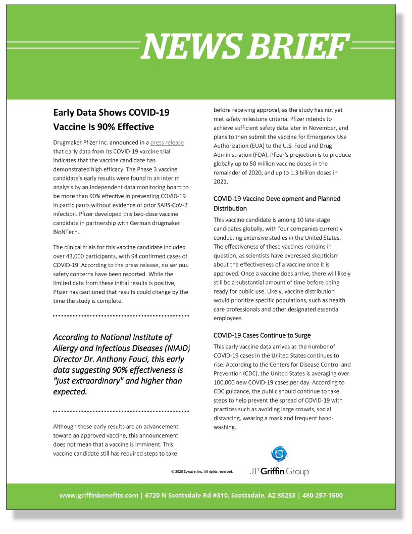 News Brief - Early Data Shows COVID-19 Vaccine Is 90% Effective_FINAL