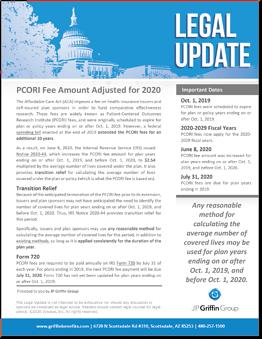 PCORI Fee Amount Adjusted for 2020-1