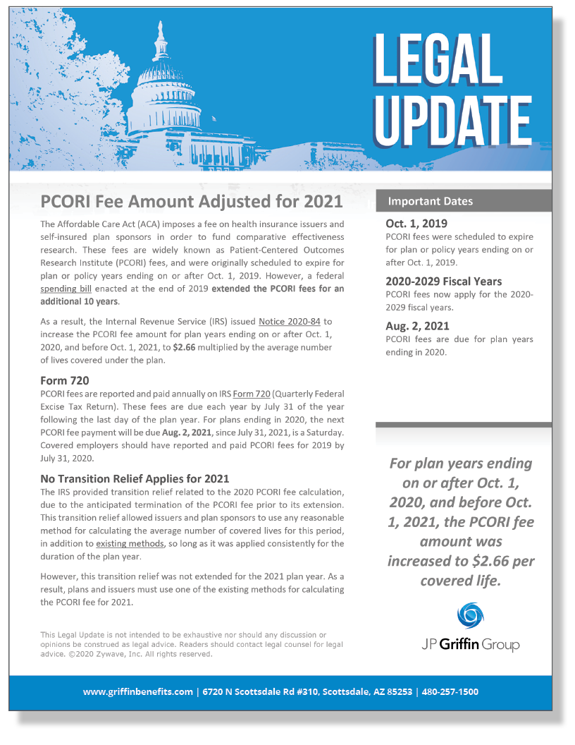PCORI Fee Amount Adjusted for 2021_FINAL