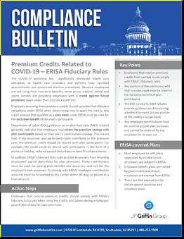 Premium Credits Related to COVID 19 ERISA Fiduciary Rules-1