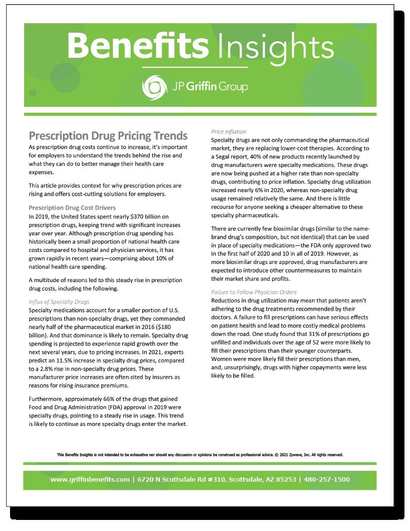 Prescription Drug Pricing Trends