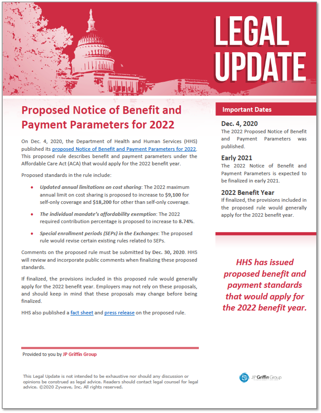 Proposed Notice of Benefit and Payment Parameters for 2022