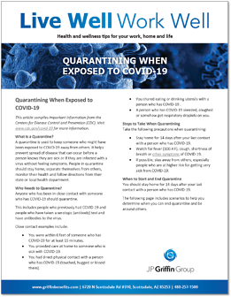 Quarantining When Exposed to COVID-19-1