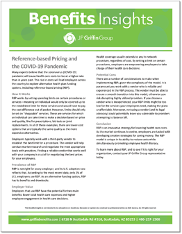 Reference-based Pricing and COVID-19-1