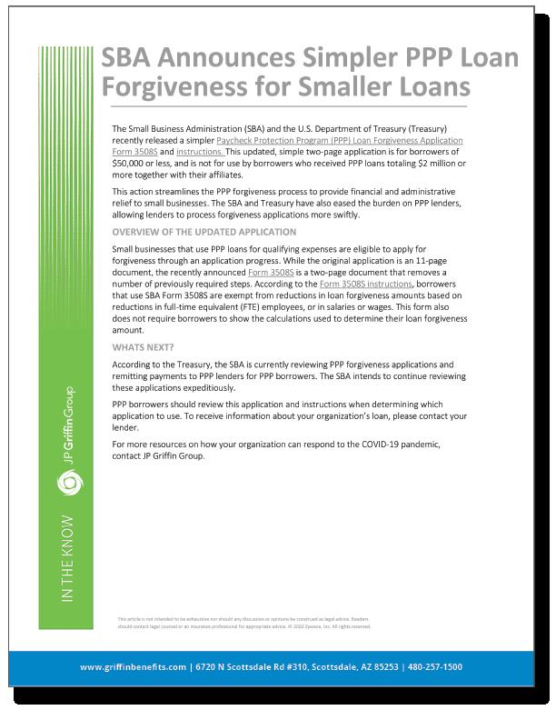SBA Announces Simpler PPP Forgiveness for Smaller Loans_FINAL