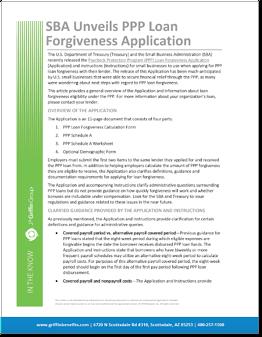 SBA Unveils PPP Forgiveness Application-1