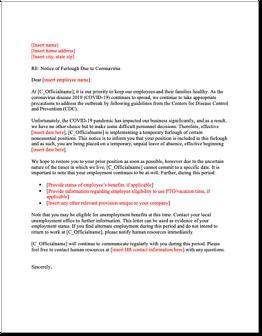 Sample Notice of Furlough Due to Coronavirus-1