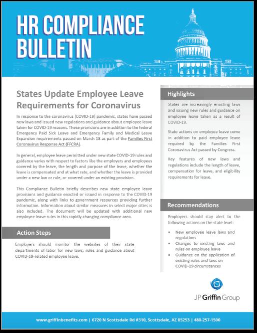 States Update Leave Rules in Response to Coronavirus