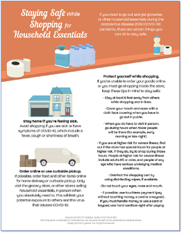 Staying Safe While Shopping for Household Essentials Infographic-1