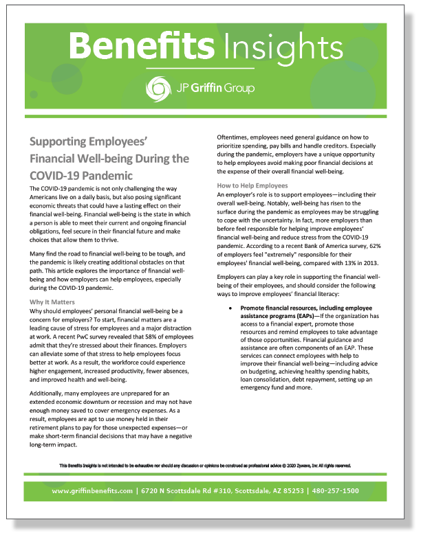 Supporting Employees' Financial Well-being During the COVID-19 Pandemic_FINAL