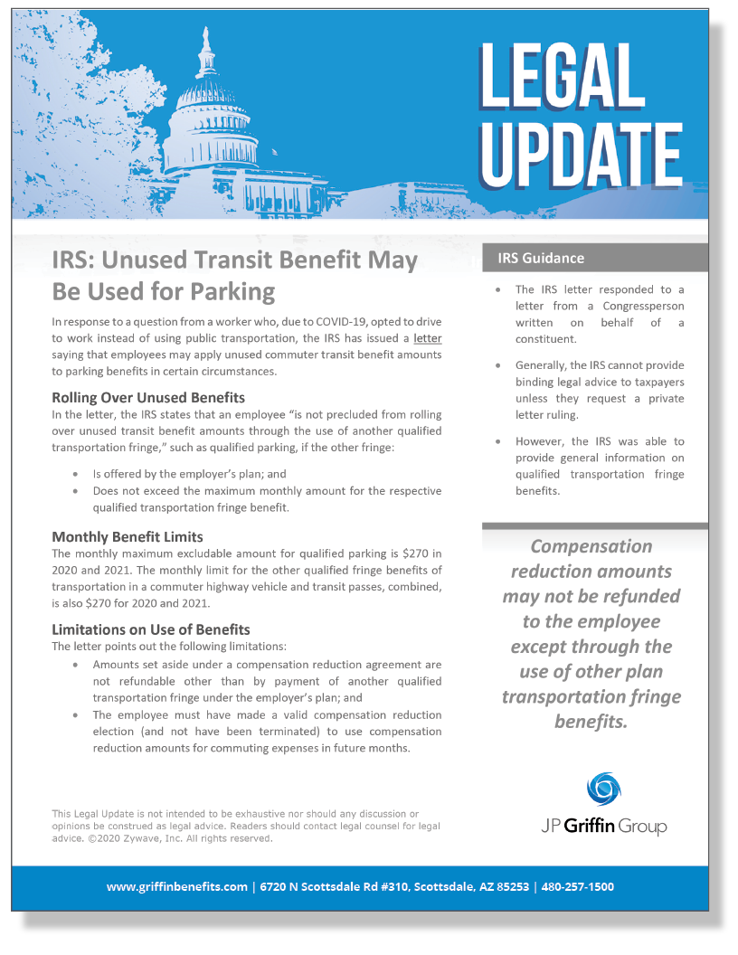 Unused Transportation Benefit May Be Used as Parking Benefit_FINAL