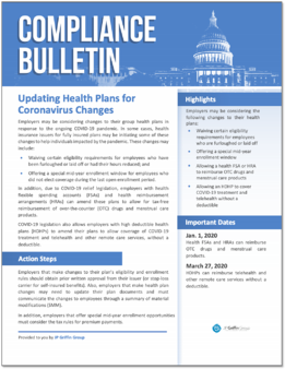 Updating Health Plans for Coronavirus Changes-1