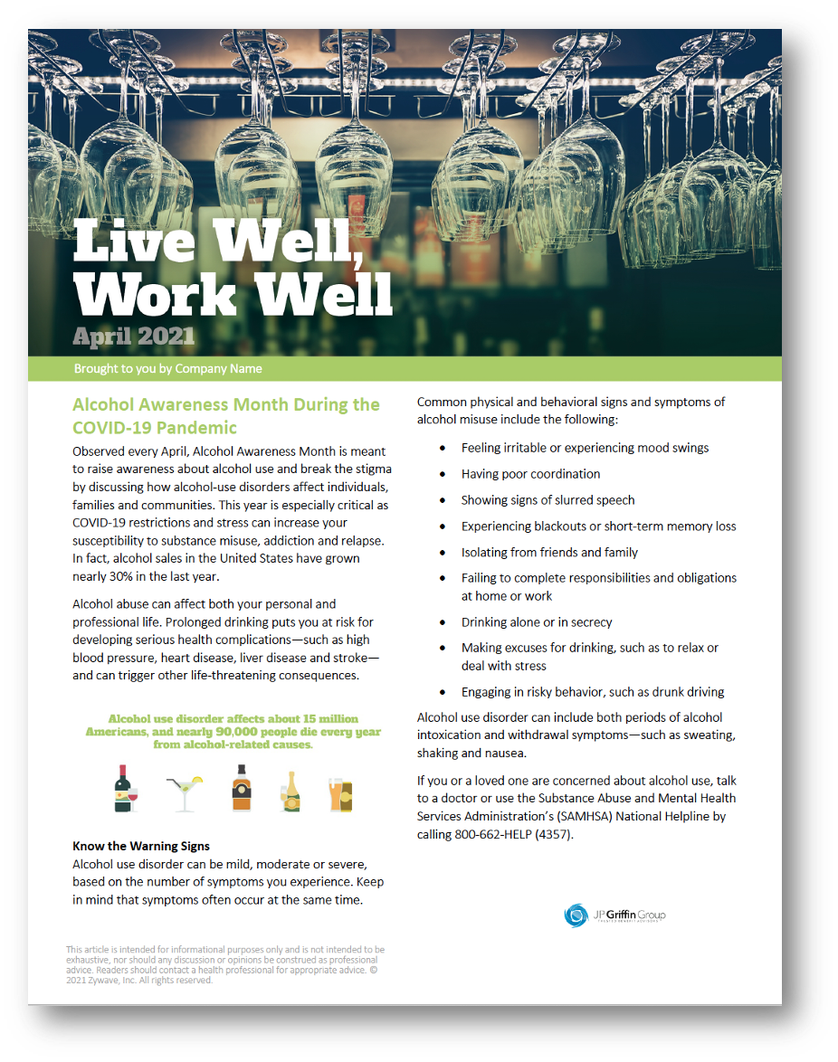 Live Well Work Well Newsletter - April 2021