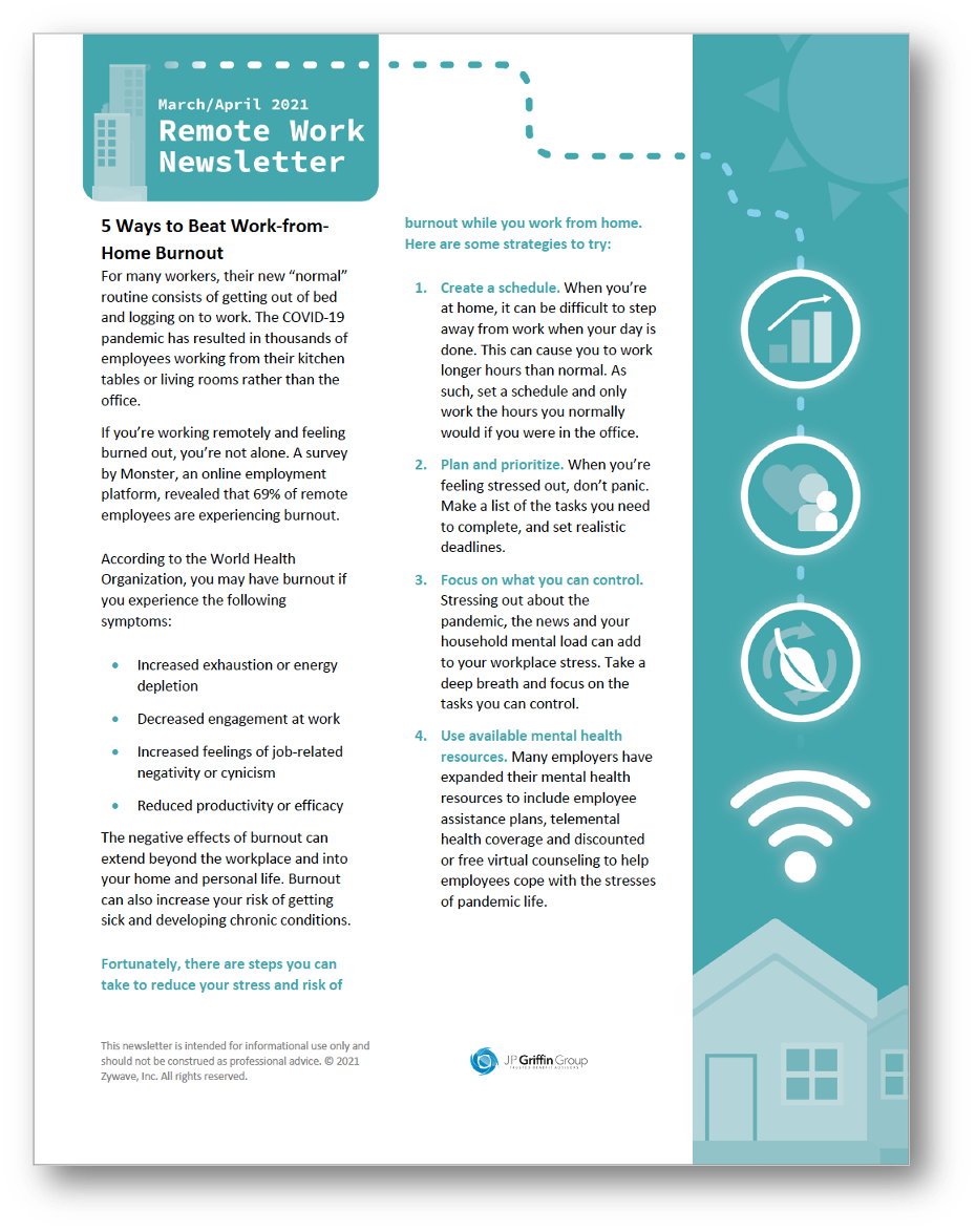 Remote Employee Newsletter - March April 2021